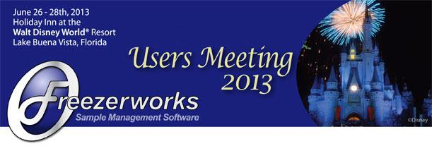 Freezerworks Users Meeting 2013 is taking place at Walt Disney World Florida on June 26 thru 28