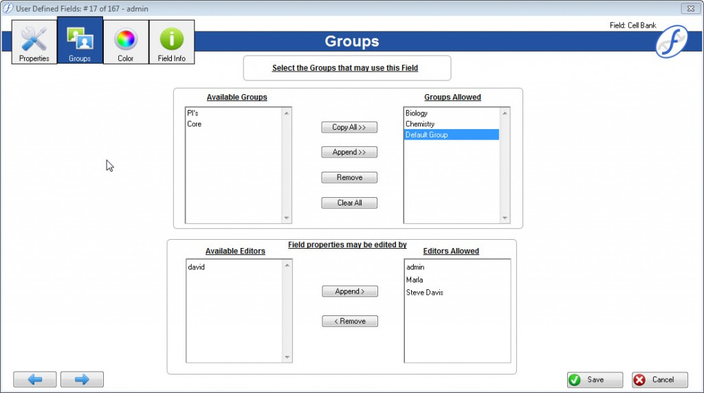 Group Security now available in Freezerworks Summit Edition