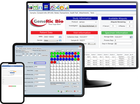Sample Management Software on multiple devices