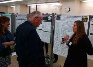 Dr. Sarah Corner presenting data on jaguar molecular studies