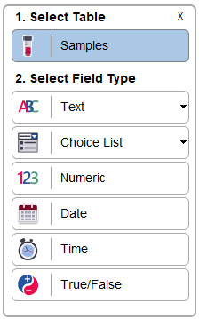 Multiple different types of User Defined Fields are available to configure to simplify your laboartory's sample management