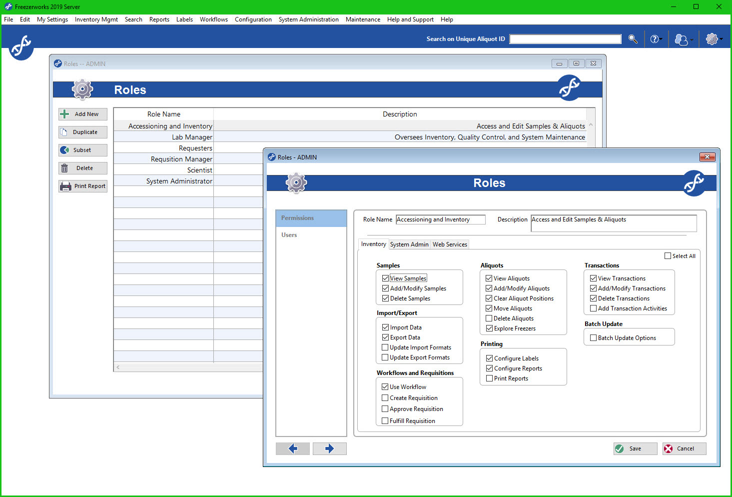 Ascent Edition allows administrators to configure roles for efficient user provisioning