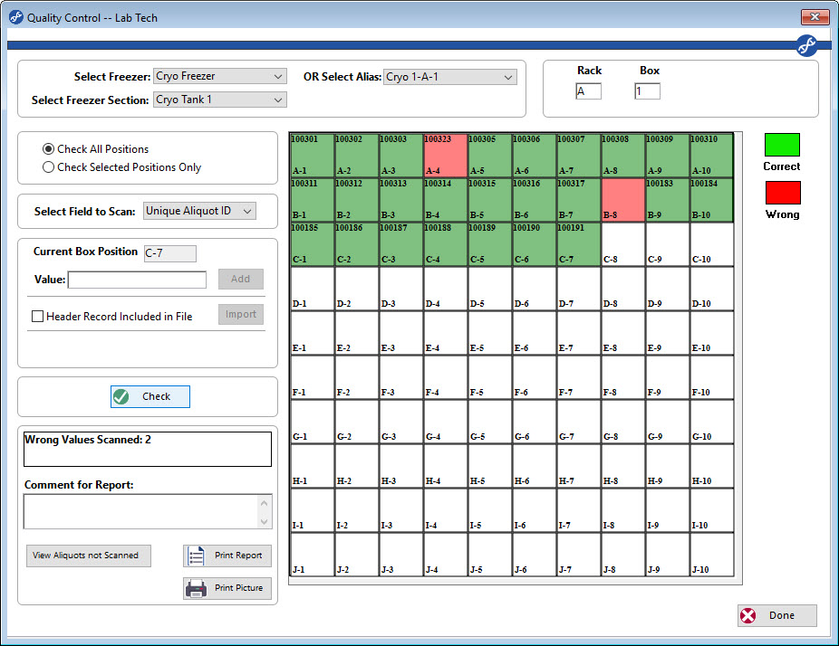Ensure accurate Sample Management and storage with the QC Freezer Check
