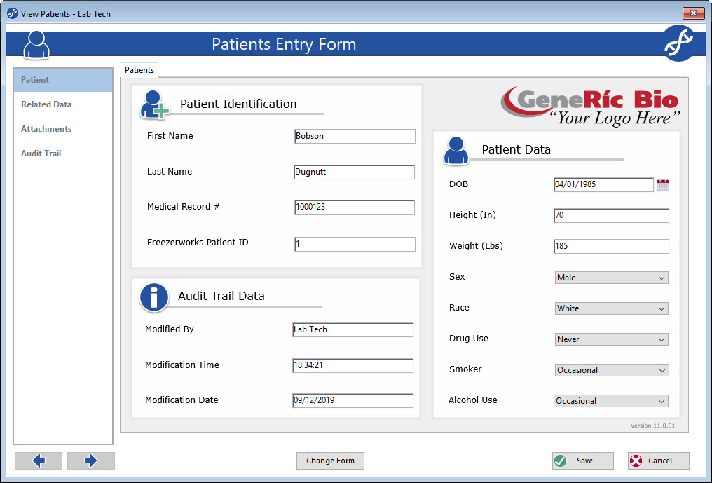 Patient Entry Screen for efficient Patient Management